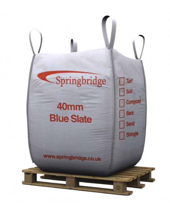 40mm Blue Slate Bulk Bag