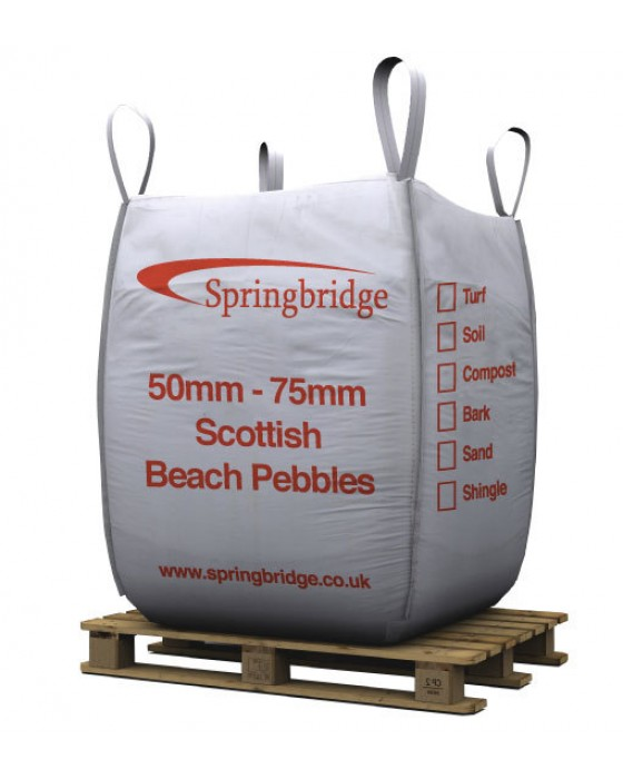 50-75mm Scottish Beach Pebbles Bulk Bag