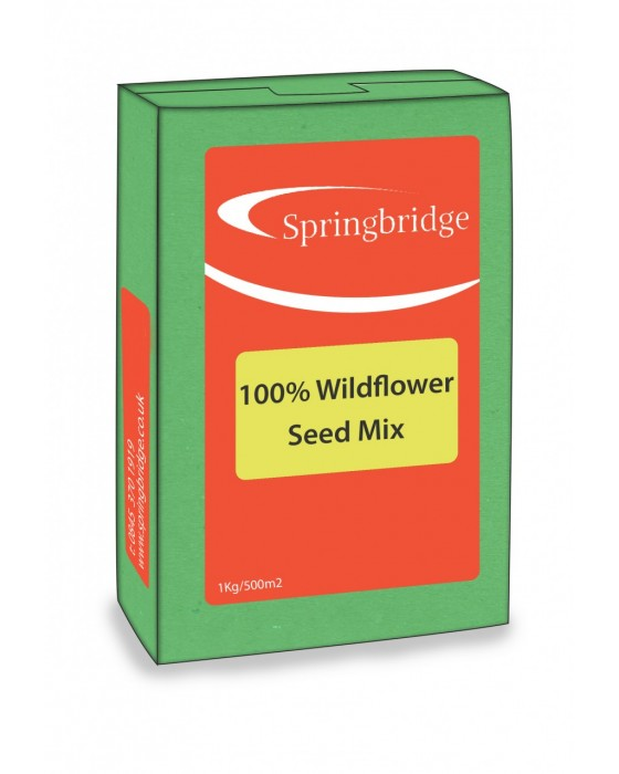 100% Wildflower Seed Mix (500m2)